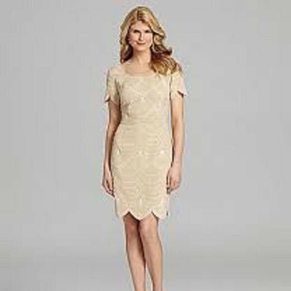 ANTONIO MELANI Dresses & Skirts - Antonio Menlani Keaton Dress W/ Scallop Bottom NWT
